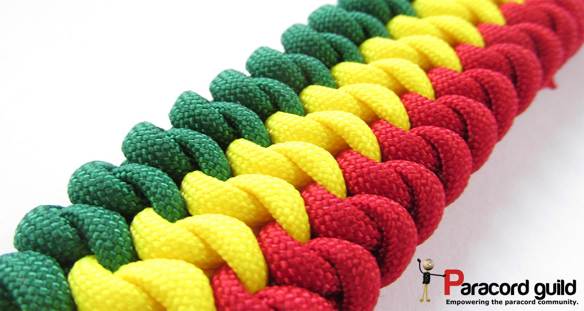 Mated snake knot paracord bracelet- 3 colors - Paracord guild