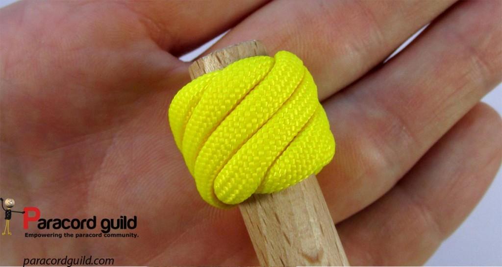 A smaller single strand Matthew Walker knot.
