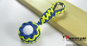 golf ball paracord key fob