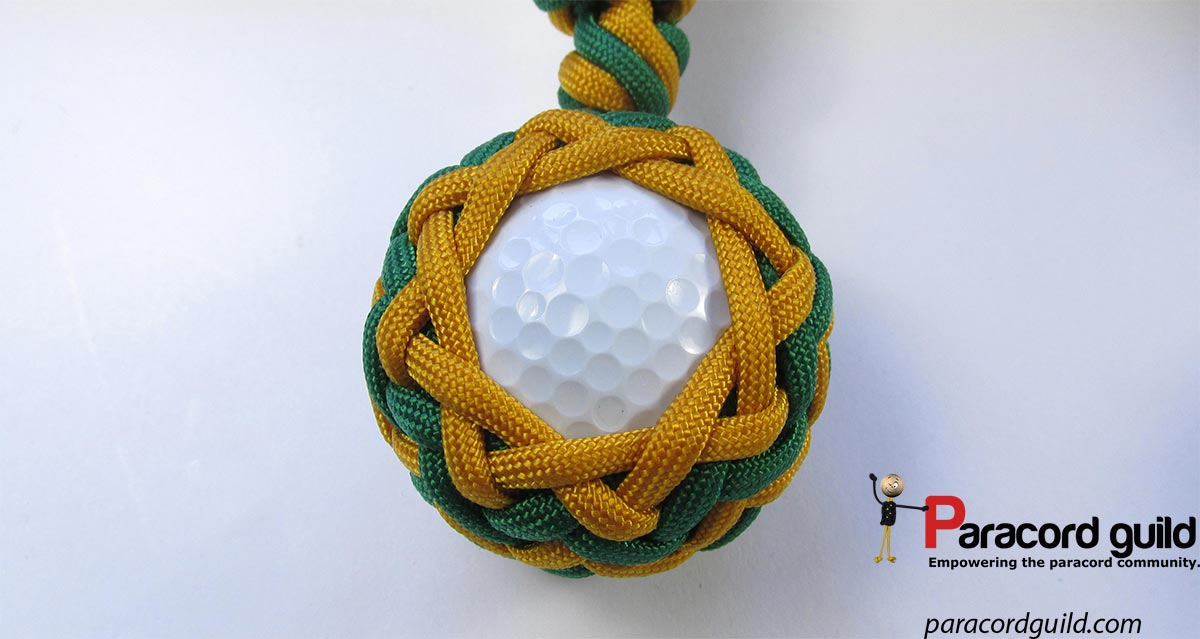 Golf ball paracord key fob - Paracord guild 74a3c4690