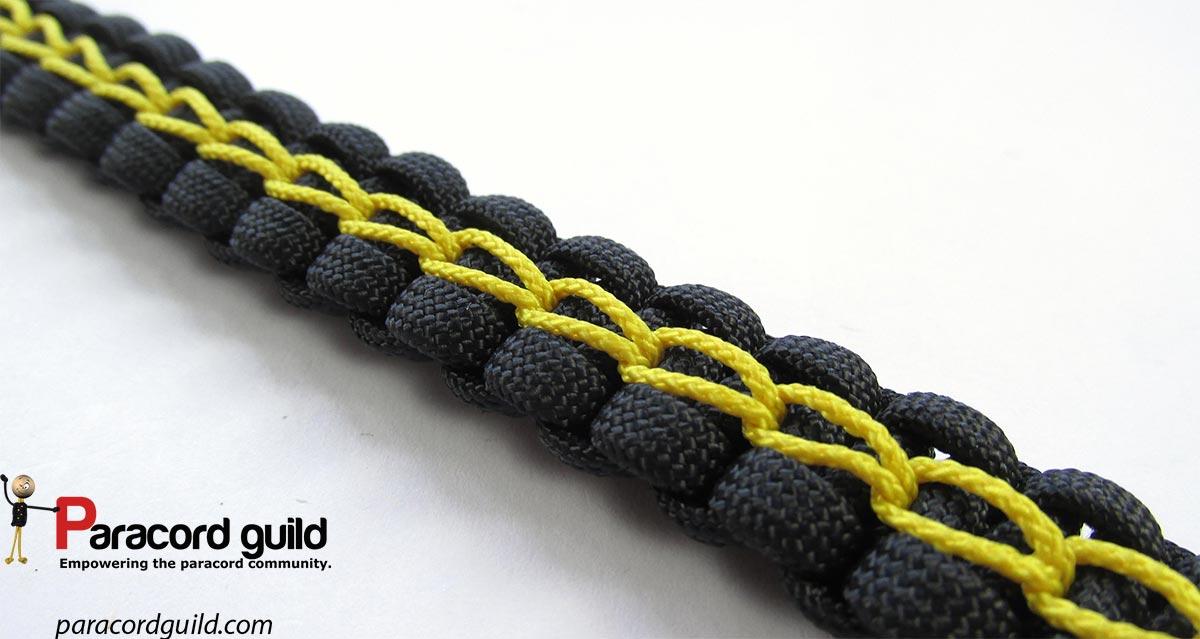Chain Stitched Paracord Bracelet Paracord Guild