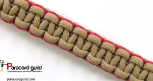 side stitched paracord bracelet