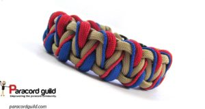 stitched caged solomon paracord bracelet version 2