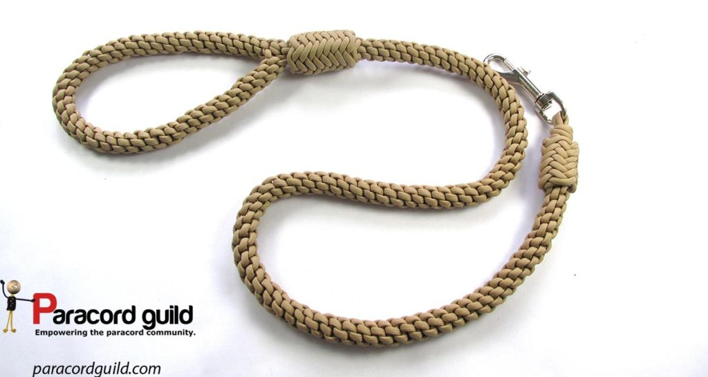 how to make a 4 strand round braided dog leash