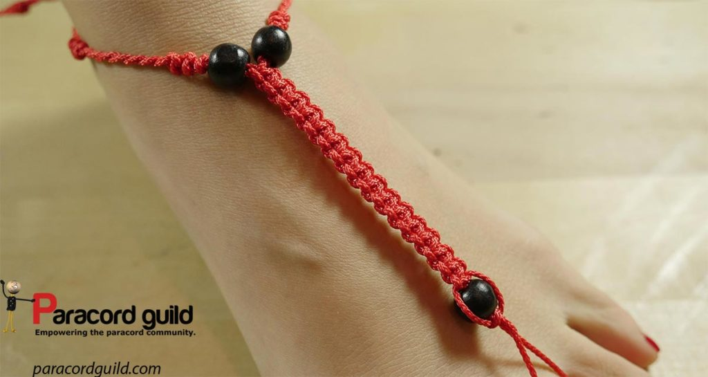 paracord-anklet