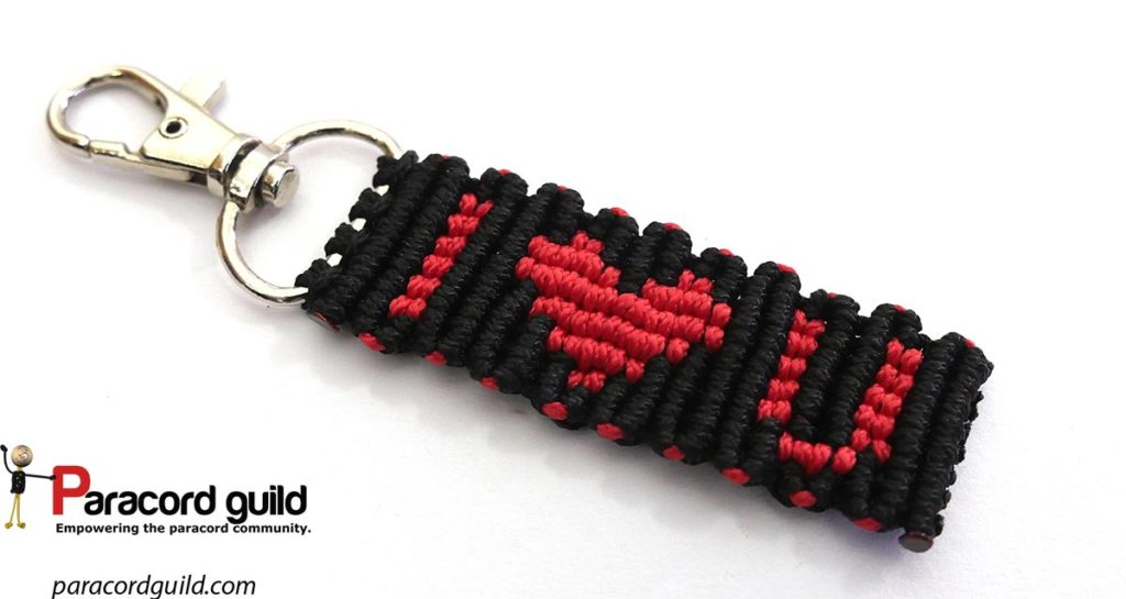 love paracord key fob