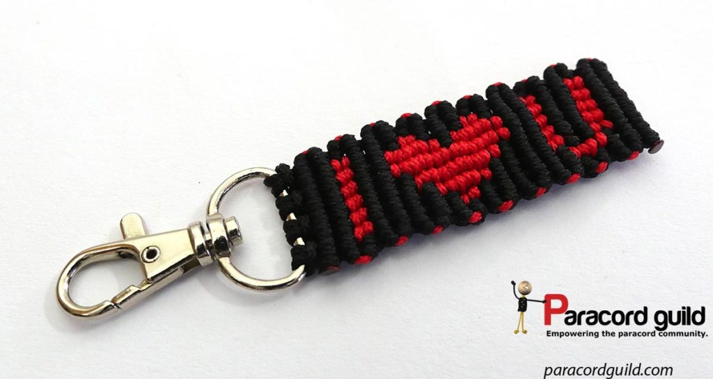 heart paracord key fob