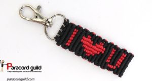 heart paracord key fob macrame