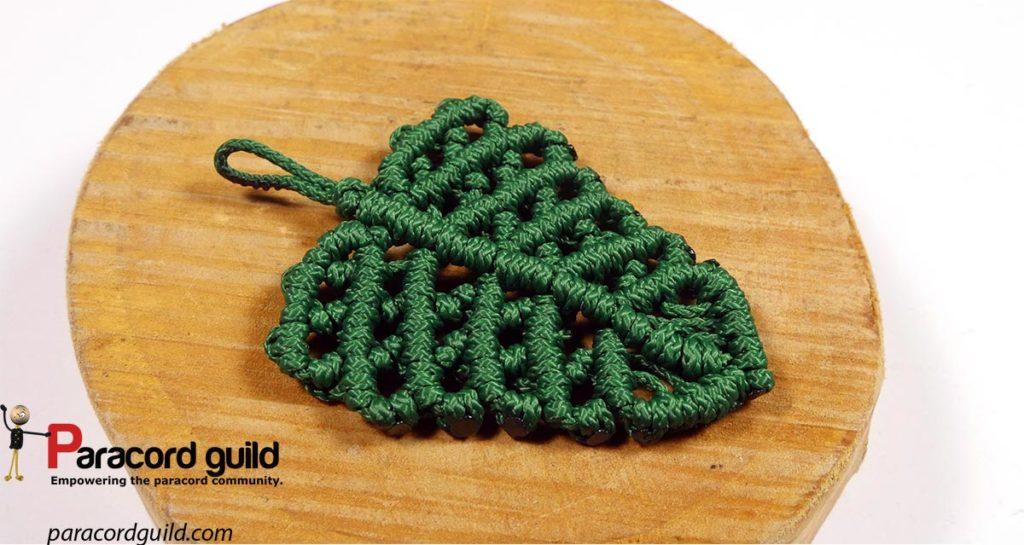 green macrame leaf