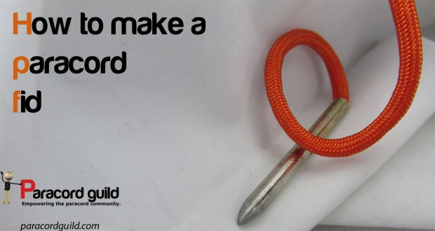 how to make a paracord fid