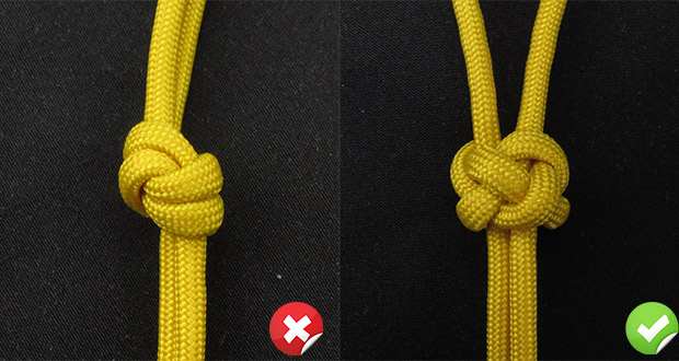 overhand vs diamond knot