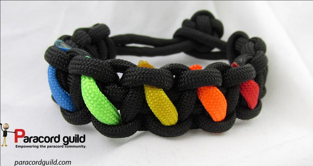 paracord rainbow bracelet