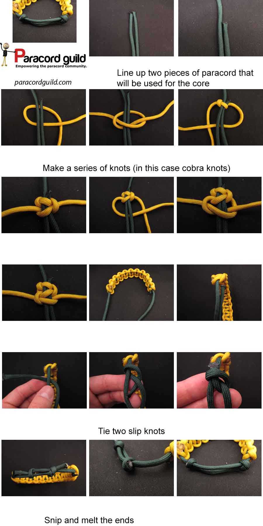 adjustable paracord bracelet instructions