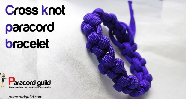cross knot paracord bracelet