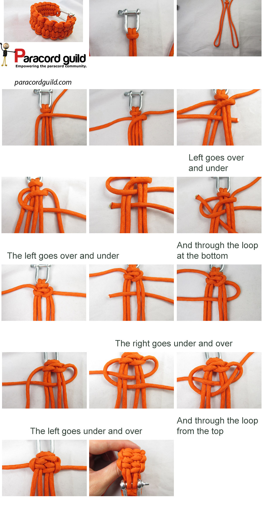blaze bar paracord bracelet tutorial