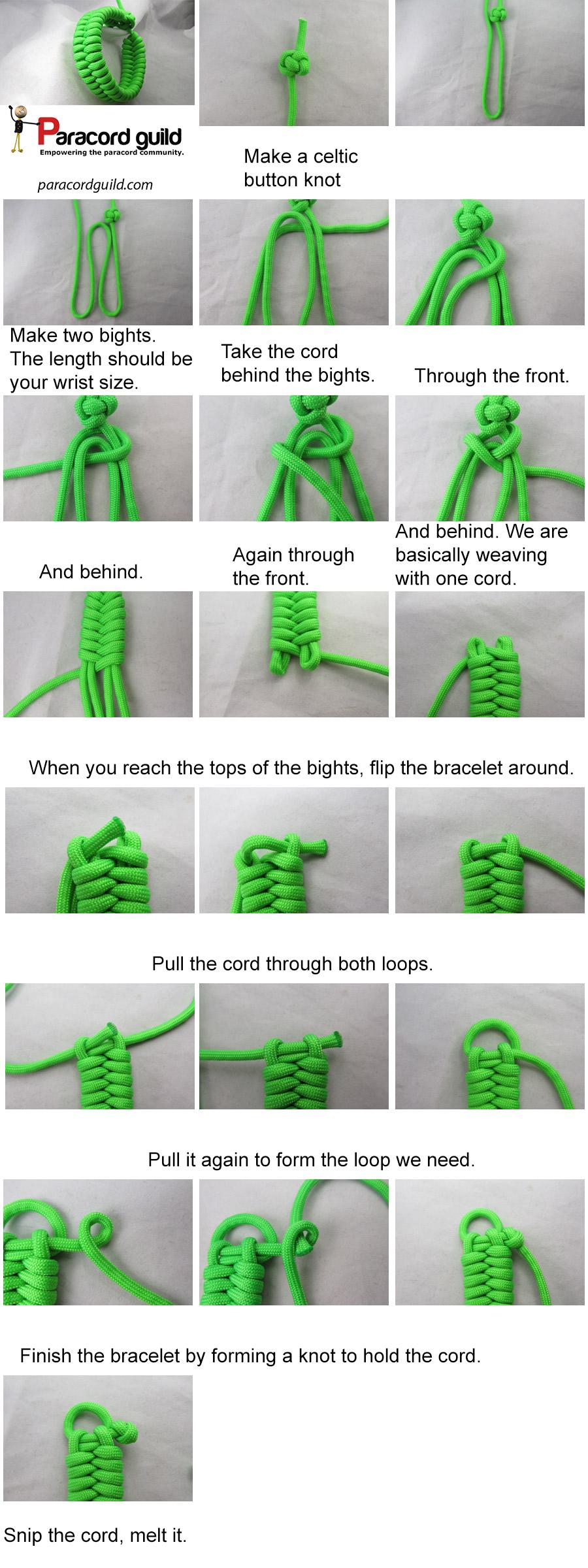 quick deploy fishtail paracord bracelet tutorial
