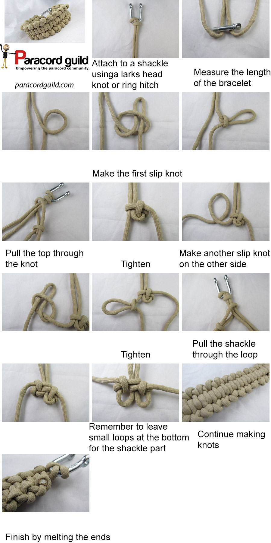 how to make a backbone bar paracord bracelet