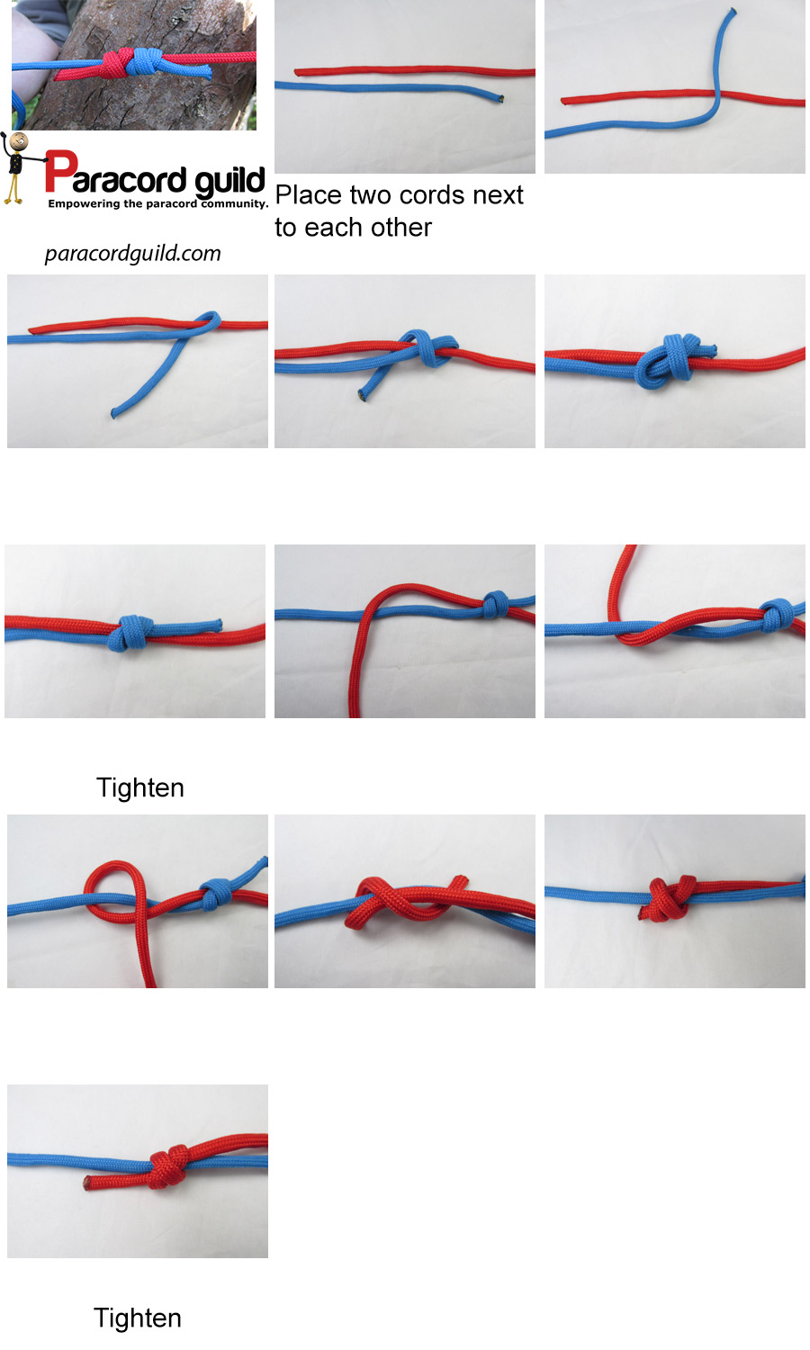 how to tie a fishermans knot