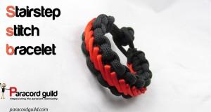stairstep stitch paracord bracelet