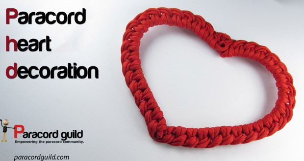 paracord heart decoration