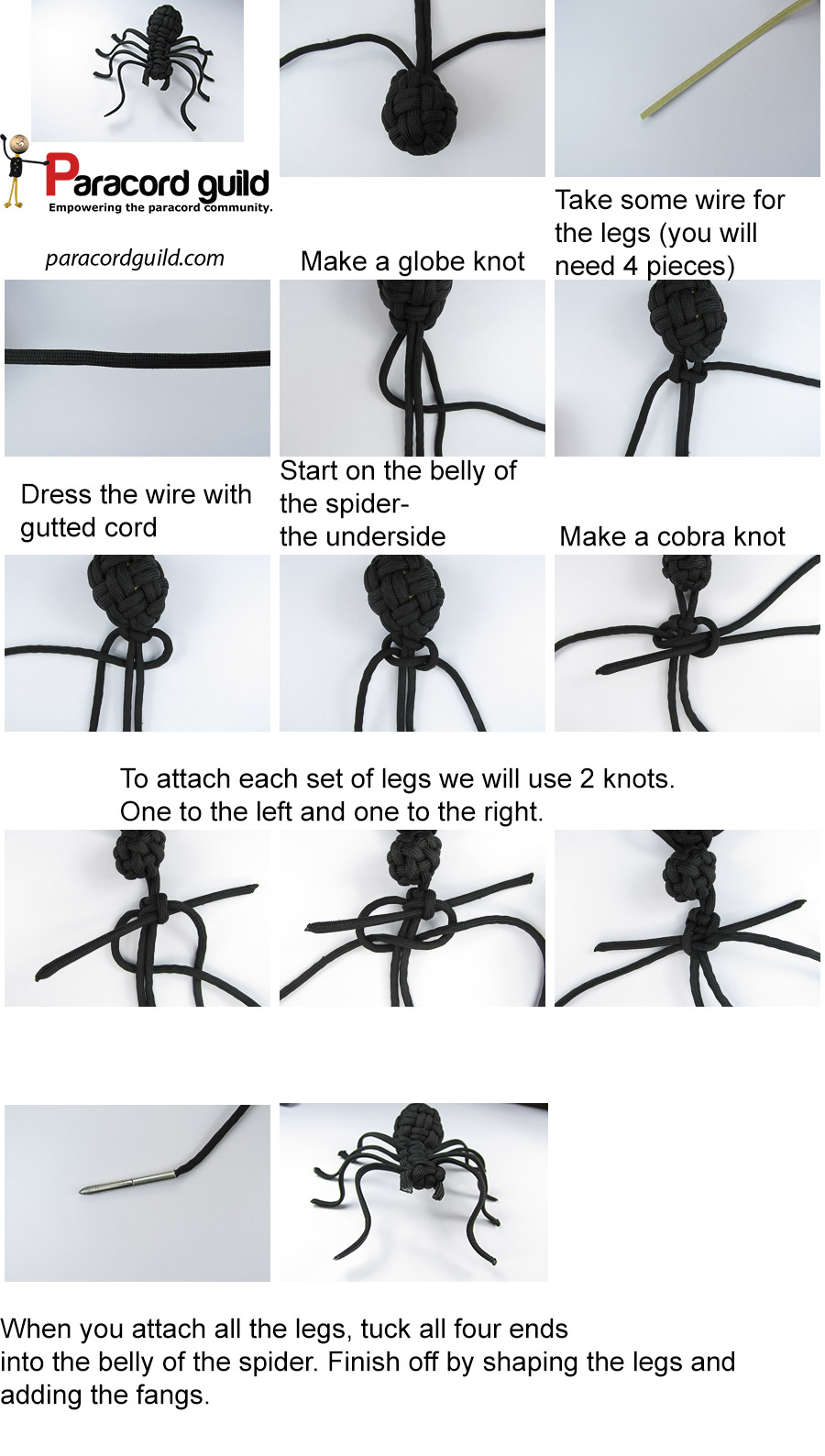 paracord spider tutorial