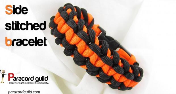 side stitched paracord bracelet