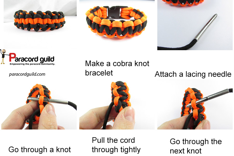 side stitched paracord bracelet tutorial