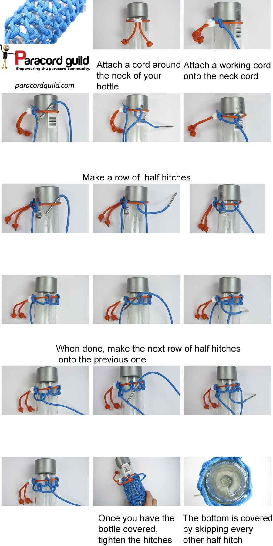paracord bottle wrap tutorial