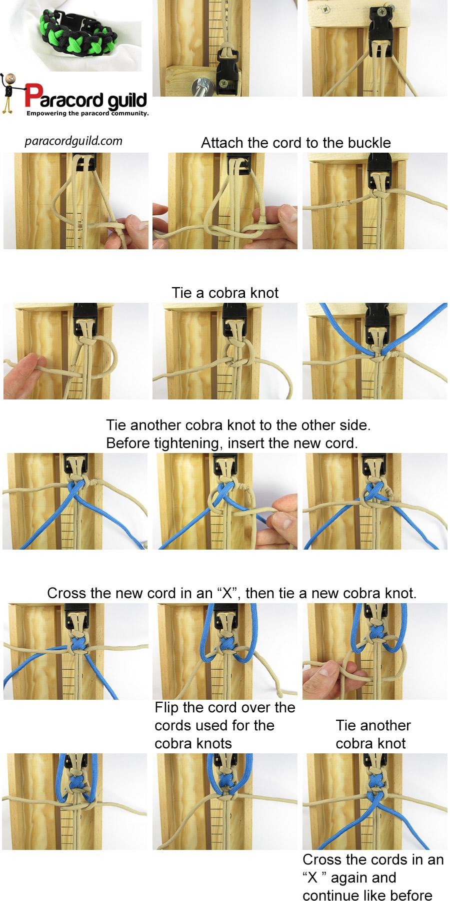 xoxo paracord bracelet tutorial