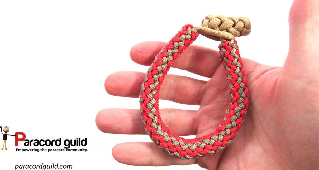 gaucho fan knot paracord bracelet