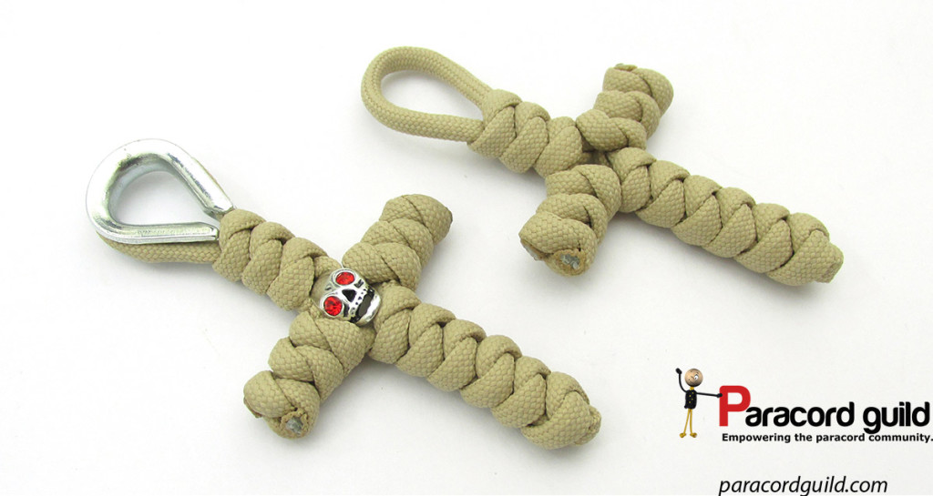 snake knot paracord crosses
