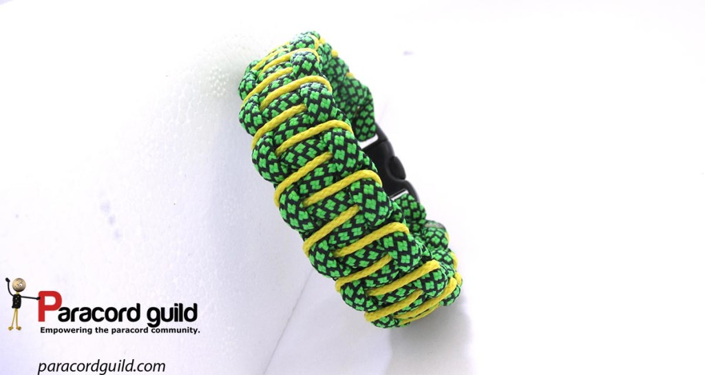 micro cord laced paracord bracelet