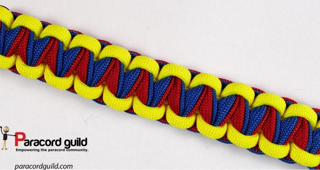 The pattern of the bracelet.