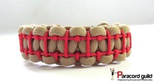 ladder stitch paracord bracelet