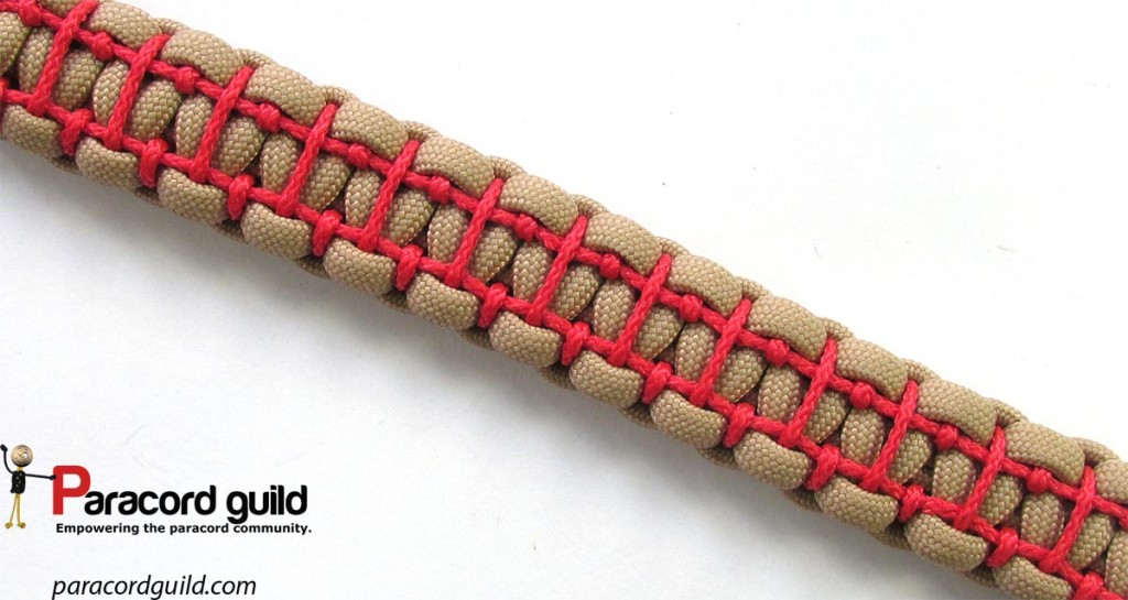 Top view of the bracelet pattern.