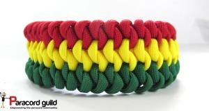 mated snake knot paracord bracelet