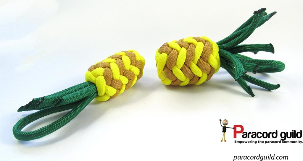 two-paracord-pineapples