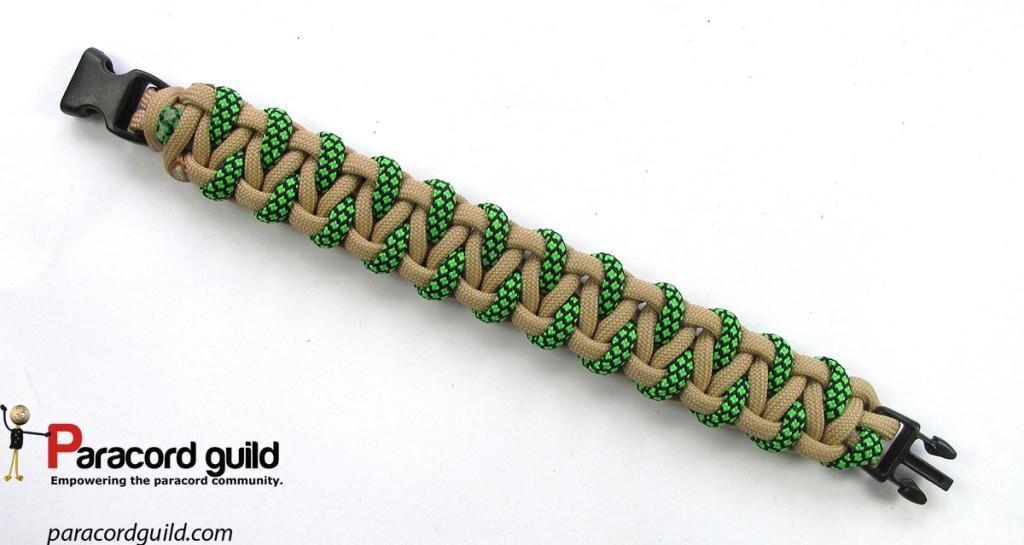 Top side of the bracelet.