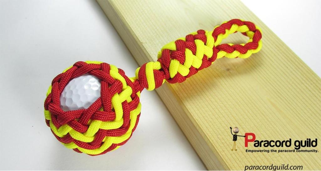 golf-ball-paracord-key-fob-red