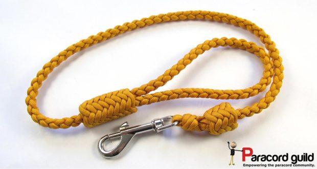 braided paracord dog leash herringbone style