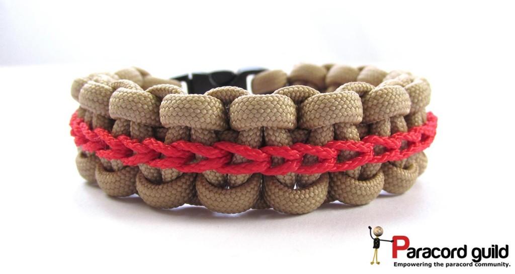 chain stitch paracord bracelet