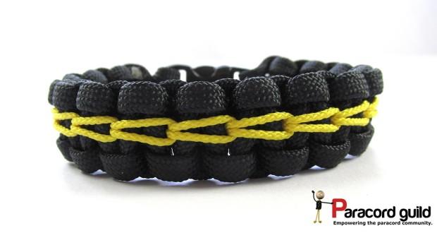 chain stitched paracord bracelet