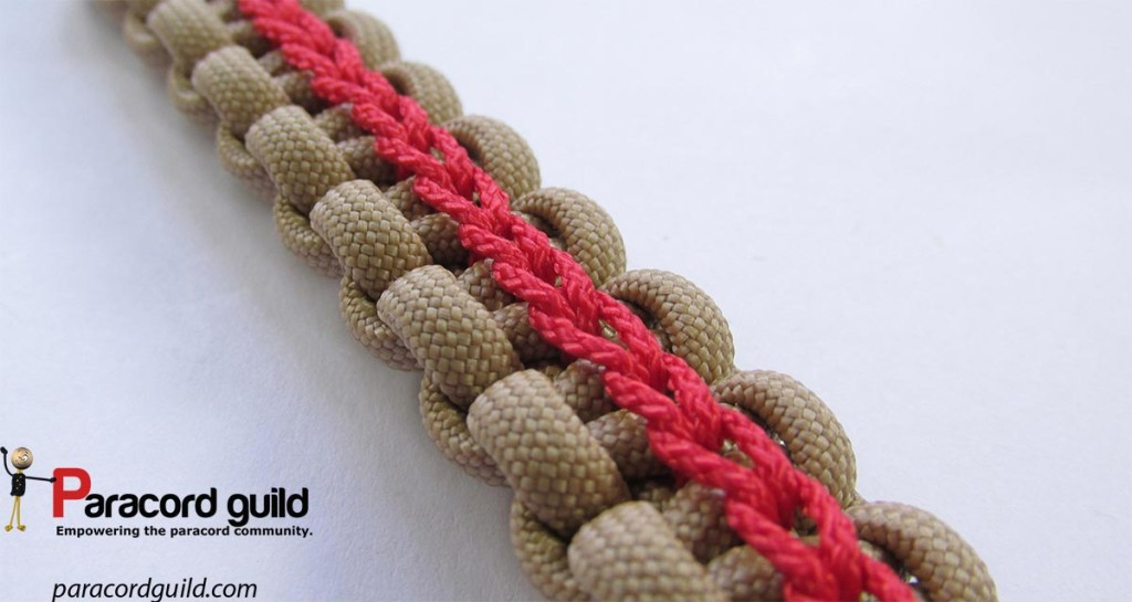 Regular chain stitch. With an over one at the top.