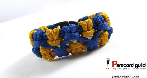 crossed chain sennit paracord bracelet