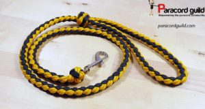 lazy man's paracord dog leash