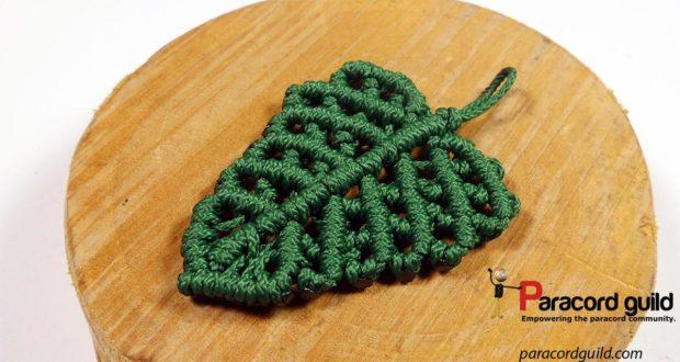 macrame leaf